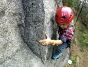 Kai Seth Robertson (5 years old) on Birthday Treat at Lysterfield Boulders.