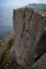 Adam Booth on the never ending Track of the Cat (E4 6a)