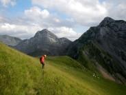 Walking down from Bockmattli