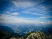 Looking to Mont Blanc, on the edge of all things.