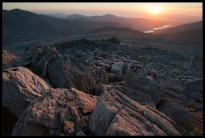 Sunset on Glyder Fawr, Snowdonia National Park