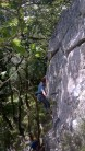 Me on the first ascent of Slap Happy