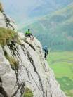 Climbers on NW Arete