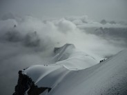 The stunning view out from the aiguille du midi lift