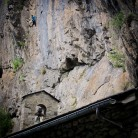The sector St Antoni wall at Sant Antoni de la Grella in Andorra.
