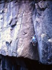 Early free ascent of West face Route