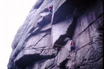 Final pull West face Route