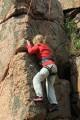 "Unknown Climber in ""RK47"" , Hammerkysten, Bornholm<br>© Alma"