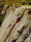 J-Rod climbing Yorkshire Pudding, Dalkey Quarry, Ireland