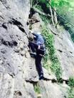 Matt Harrison climbing Cry Wolf