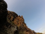 Climbing the 4th pitch of Svarti Turninn<br>© Deary65