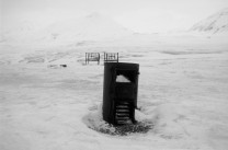 Remains of trapper's hut, high Arctic wilderness, Svalbard, 40km from nearest settlement