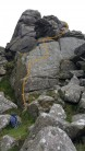 Has any climbed this line ?? @ Hound Tor