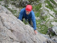 Reaching the first belay