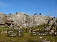 Topo of high ball bit of crag