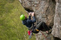 Inspecting the crux on L'Horla