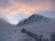 Ben Nevis - solitary December walk-in