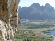 Great position on a great climb, Lo Spigolo Marisa, Salinella, San Vito lo Capo