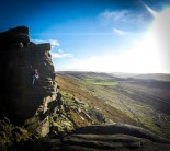 A windy, winters day at Stanage....