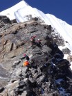 unexpected choss on ridge to Abi Nepal