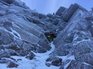 Climbers ahead on first pitch of Deep Throat