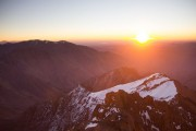 First team to the top of Toubkal in 2016. 3am get up to see sunrise.<br>© George Salt