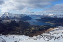 Looking down to Glen Coe and Loch Leven