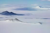 Flying in to Sky Blu, Antarctica