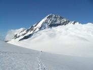 Returning to French Ridge Hut