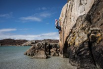 Shallow water soloing on the Isle of Mull