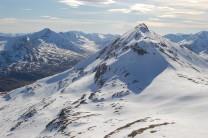 Sgurr Choinnich Mor from Grey Corries main ridge
