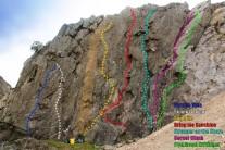 Abseil wall topo
