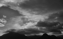 Silhouette of the Cuillins