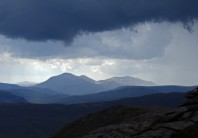 Beinn a'Ghlo just before the storm broke