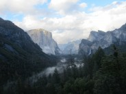 Storm clouds clearing over Yosemite