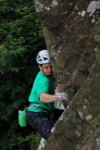 Kevin Killroy on the first ascent of Nobody Get Hurt at the Small Crag, Fairhead