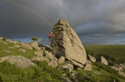 Will Hornby at Combeshead Tor<br>© james mann