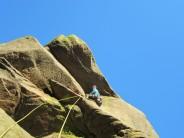 Chris Harrison on Monument Crack, Rylstone. E1 5b ***