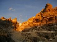 Bocca del Tuckett at sunset