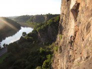 An evening to be very grateful we live in Bristol!  Multipitch adventure on our doorsteps at Avon Gorge