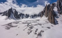 The crevasse field crossing of the Vallee Blanche