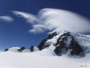 Spectacular Lenticular Clouds Over Mont Blanc Du Tacul