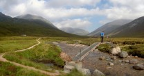 On our way after a stop at Corrour bothy