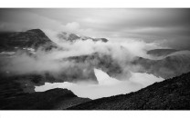 Fog passing over the Smørstabb massif in Jotunheimen, Norway