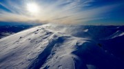 Soft snow and spindrift on the south ridge of Binnein Mor, Mamores<br>© IainMacG