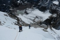 Abseiling back down to Camp 2