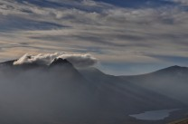 Tryfan and the Bristly making cloud from Y Braich