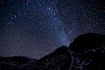 The Milkyway erupting from Diagonal gully version 2