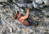 Red Dragon 8a+, Moon Hill, Yangshuo, China<br>© cdicko