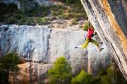 Adam Karpierz is climbing in Margalef<br>© Adam Kokot